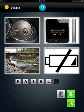 1 Mot 4 Images Level 17 Answer