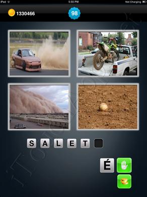 1 Mot 4 Images Level 98 Solution