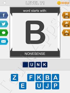 123 Pop Word Quiz Level 71 Cheat