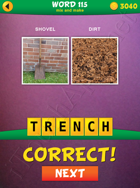 2 Pics 1 Word Mix And Make Pack Word 115 Solution