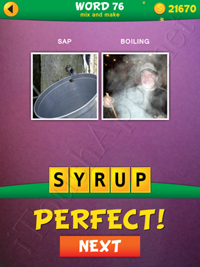 2 Pics 1 Word Mix And Make Pack Word 76 Solution