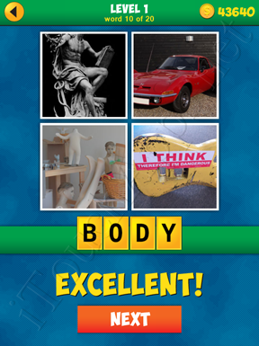 4 Pics 1 Word Puzzle - More Words - Level 1 Word 10 Solution