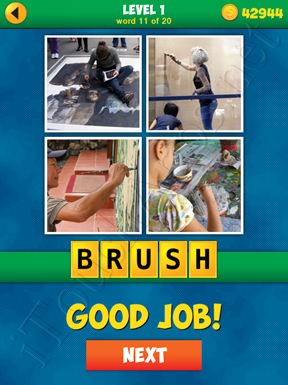 4 Pics 1 Word Puzzle - More Words - Level 1 Word 11 Solution