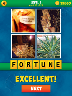 4 Pics 1 Word Puzzle - More Words - Level 1 Word 15 Solution