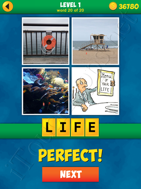 4 Pics 1 Word Puzzle - More Words - Level 1 Word 20 Solution