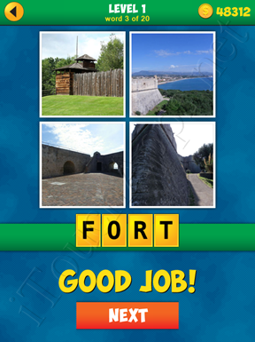 4 Pics 1 Word Puzzle - More Words - Level 1 Word 3 Solution