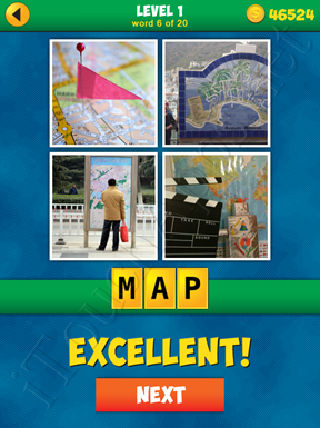 4 Pics 1 Word Puzzle - More Words - Level 1 Word 6 Solution