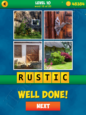 4 Pics 1 Word Puzzle - More Words - Level 10 Word 16 Solution