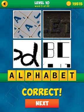 4 Pics 1 Word Puzzle - More Words - Level 10 Word 5 Solution