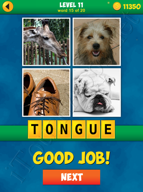 4 Pics 1 Word Puzzle More Words Level 11 Word 15 Answer