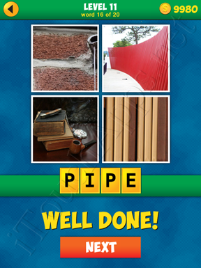 4 Pics 1 Word Puzzle - More Words - Level 11 Word 16 Solution