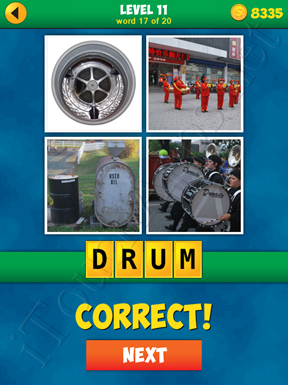 4 Pics 1 Word Puzzle - More Words - Level 11 Word 17 Solution