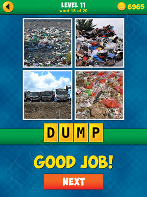 4 Pics 1 Word Puzzle - More Words - Level 11 Word 18 Solution