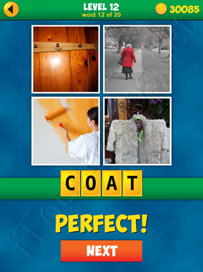 4 Pics 1 Word Puzzle - More Words - Level 12 Word 12 Solution