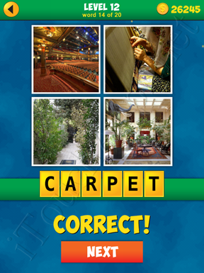 4 Pics 1 Word Puzzle - More Words - Level 12 Word 14 Solution