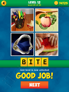 4 Pics 1 Word Puzzle More Words Level 12 Word 20 Answer