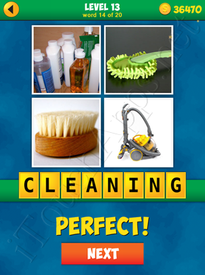 4 Pics 1 Word Puzzle - More Words - Level 13 Word 14 Solution