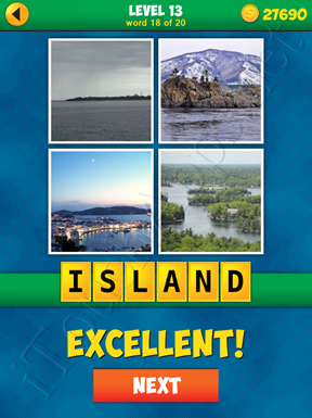 4 Pics 1 Word Puzzle More Words Level 13 Word 18 Answer