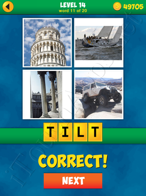 4 Pics 1 Word Puzzle - More Words - Level 14 Word 11 Solution