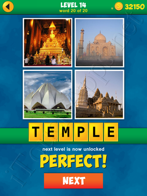 4 Pics 1 Word Puzzle - More Words - Level 14 Word 20 Solution