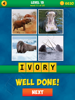 4 Pics 1 Word Puzzle - More Words - Level 15 Word 11 Solution