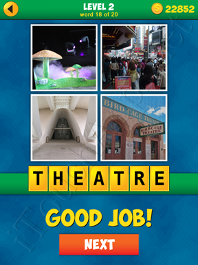 4 Pics 1 Word Puzzle - More Words - Level 2 Word 18 Solution