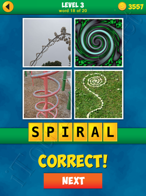 4 Pics 1 Word Puzzle - More Words - Level 3 Word 18 Solution