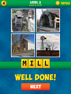 4 Pics 1 Word Puzzle - More Words - Level 3 Word 2 Solution