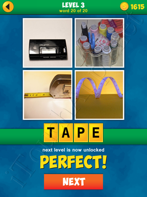 4 Pics 1 Word Puzzle - More Words - Level 3 Word 20 Solution