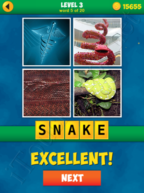 4 Pics 1 Word Puzzle - More Words - Level 3 Word 5 Solution