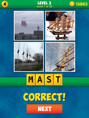 4 Pics 1 Word Puzzle - More Words - Level 3 Word 7 Solution