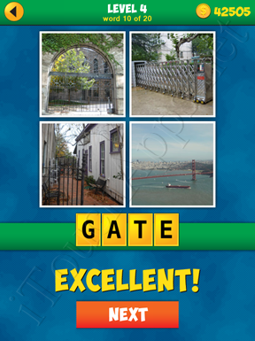 4 Pics 1 Word Puzzle - More Words - Level 4 Word 10 Solution
