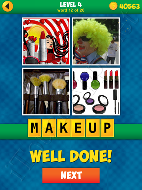 4 Pics 1 Word Puzzle - More Words - Level 4 Word 12 Solution