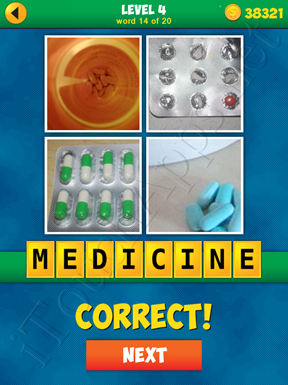 4 Pics 1 Word Puzzle - More Words - Level 4 Word 14 Solution