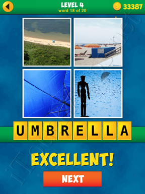 4 Pics 1 Word Puzzle - More Words - Level 4 Word 18 Solution