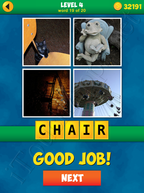 4 Pics 1 Word Puzzle - More Words - Level 4 Word 19 Solution