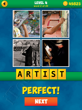 4 Pics 1 Word Puzzle - More Words - Level 4 Word 2 Solution