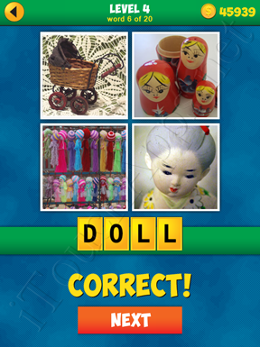 4 Pics 1 Word Puzzle - More Words - Level 4 Word 6 Solution