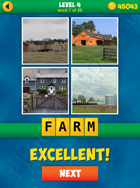 4 Pics 1 Word Puzzle - More Words - Level 4 Word 7 Solution