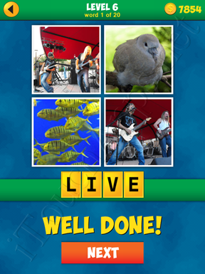 4 Pics 1 Word Puzzle - More Words - Level 6 Word 1 Solution