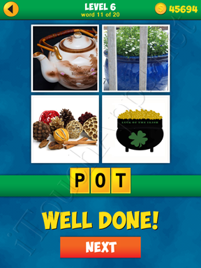 4 Pics 1 Word Puzzle - More Words - Level 6 Word 11 Solution