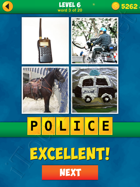 4 Pics 1 Word Puzzle - More Words - Level 6 Word 3 Solution