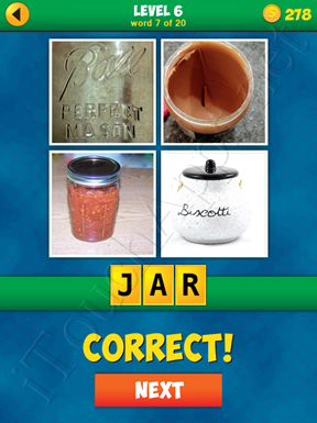 4 Pics 1 Word Puzzle - More Words - Level 6 Word 7 Solution