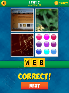 4 Pics 1 Word Puzzle - More Words - Level 7 Word 13 Solution