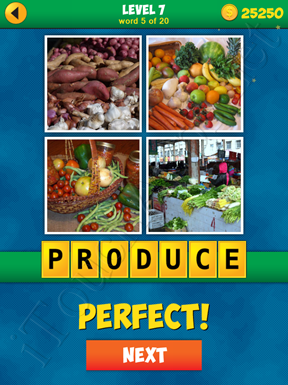 4 Pics 1 Word Puzzle - More Words - Level 7 Word 5 Solution