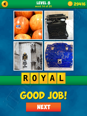 4 Pics 1 Word Puzzle - More Words - Level 8 Word 14 Solution