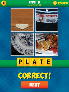 4 Pics 1 Word Puzzle - More Words - Level 8 Word 16 Solution