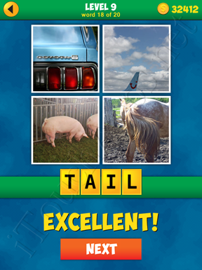 4 Pics 1 Word Puzzle - More Words - Level 9 Word 18 Solution