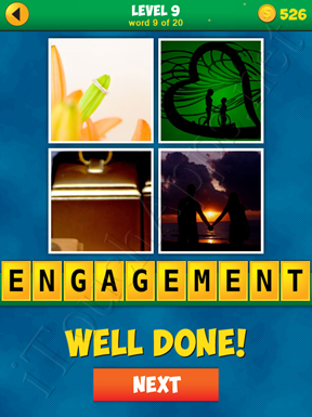 4 Pics 1 Word Puzzle - More Words - Level 9 Word 9 Solution