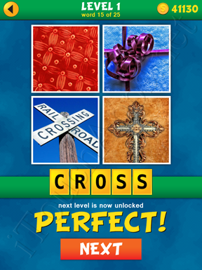 4 Pics 1 Word Puzzle - What's That Word Level 1 Word 15 Solution